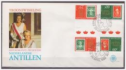 Antillen / Antilles 1980 FDC 131-2 Stamp On Stamp Gutterpair - Curaçao, Antilles Neérlandaises, Aruba