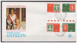 Antillen / Antilles 1980 FDC 131-3 Stamp On Stamp Gutterpair - Curaçao, Antilles Neérlandaises, Aruba