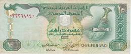 BILLETE DE EMIRATOS ARABES DE 10 DIRHAMS DEL AÑO 2009  (BANKNOTE) - Emiratos Arabes Unidos
