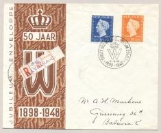 Nederlands Indië - 1948 - Jubileum Serie Op R-FDC Lokaal Batavia - Nederlands-Indië