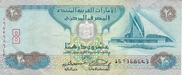 BILLETE DE EMIRATOS ARABES DE 20 DIRHAMS DEL AÑO 2000  (BANKNOTE) - Emiratos Arabes Unidos