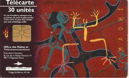 CARTE°-PUCE-POLYNESIE-30U-PF62-GEMA-ART MAOHI 97-MARRON-97/06-UTILISE-TBE- - French Polynesia