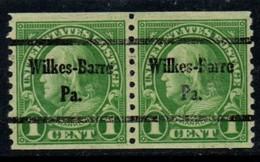 "USA Precancel Vorausentwertung Preo, Locals ""WILKES-BARRE"" (PA). - United States"