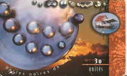 CARTE°-PUCE-POLYNESIE-30U-PF77-GEMB-PERLES NOIRES/COUCHER SOLEIL--UTILISE-R°BE-V° Usagé - French Polynesia