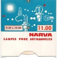 Disque De Stationnement Avec Publicité Pour Les Lampes Automobiles Narva - Auto's