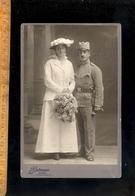 Photographie Cabinet : Maried Military Militär Militaire Soldat Autrichien / Photographe L GUTMANN WIEN IX Fotografie - Foto