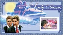 Guinea 2006, Diana III, Princes William And Harry, BF IMPERFORATED - Guinea (1958-...)