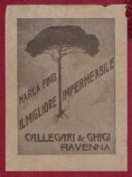 RAVENNA CALLEGARI & GHIGI IMPERMEABILI MARCA PINO SACCHI VENDITA TESSUTI 1930 PUBBLICITA' - Publicidad