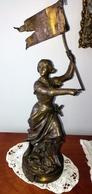 Statue En Bronze Jeanne D'arc A. Gaudez - Bronzes