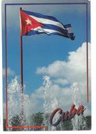 Cuba La Bandiera Nacional Viaggiata - Cartoline