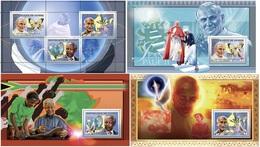 Guinea 2006, Humanist, Pope J. Paul II, Mandela, Gandhi, 3val In BF+3BF - Guinea (1958-...)