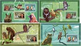 Guinea 2006, Ornitologist, Birds, Owls, 3val In BF+3BF - Guinea (1958-...)