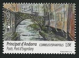 "ANDORRA ESPAÑOLA/ SPANISH ANDORRA/ ANDORRA SPANISCHE POST -  EUROPA 2018 -""PUENTES.-BRIDGES -BRÜCKEN -PONTS""- SERIE 1 V. - 2018"