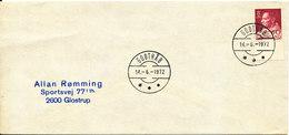 Greenland Cover Sent To Denmark Godthab 14-6-1972 Single Franked - Greenland