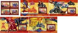 Guinea 2006, Moto, Harley Davidson, 4val In BF+4BF - Guinea (1958-...)