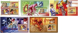 Guinea 2006, Sport, Cyclisme, Coppi, Indurain, Longo, Hinault, 4val In BF+4BF - Guinea (1958-...)