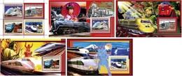 Guinea 2006, Trains In Japan, 4val In BF+4BF - Guinea (1958-...)