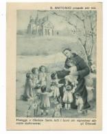 SANT'ANTONIO DA PADOVA - BIGLIETTO ILLUSTRATO - CM.14X10,5 - Old Paper
