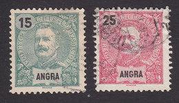 Angra, Scott #18, 21, Used, King Carlos, Issued 1897 - Angra