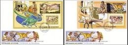 Guinea 2006, 100th Scout I, Dinosaurus, 2BF In 2FDC - Guinea (1958-...)