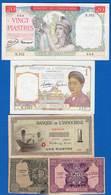 Indochine  5  Billets - Indocina