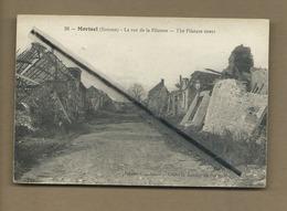 CPA  Rétrécit Et Souple -  Morisel  - (Somme)  - La Rue De La Filature - The Filature Street - France