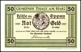 """2725 1921, Notgeld Der Gemeinde Thale """"Hilfe Für Oppau"""", Kpl. Serie Von 12 Scheine, Kassenfrisch, Selten! - [ 2] 1871-1918 : German Empire"""