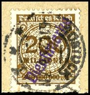 4568 Rostock, 200 Millionen Mark Mit Kontrollaufdruck, Tadellos Gestempelt Auf Briefstück, Fotobefund Weinbuch BPP (2018 - Unclassified