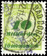 4570 Doberan, 10 Milliarden Schwärzlichgrüngelb/olivgrün Mit Kontrollaufdruck, Tadellos Gestempelt, Fotobefund Weinbuch  - Unclassified
