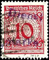 """4574 Hagenow, 10 Pfg Rot Mit Kontrollaufdruck, Tadellos Gestempelt, Fotobefund Weinbuch BPP (2018): """"echt Und Einwandfre - Unclassified"""