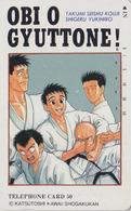 Télécarte Japon / 110-94990 - MANGA - SHOGAKUKAN By KATSUTOSHI KAWAI - JUDO - ANIME Japan Phonecard - 10118 - Comics