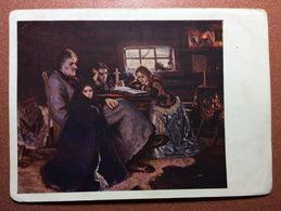 Vintage Russian USSR Postcard GOZNAK 1928 Artist SURIKOV. Ally Of Peter The Great Menshikov In Berezovo Exil To Siberia. - Schilderijen
