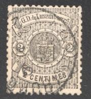 Armoiries Dentelé 13  2 Cent. Noir  No 27 Oblitéré - 1859-1880 Armoiries