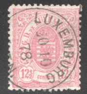 Armoiries Dentelé 13  12½ Cent. Rouge    No 31   Oblitéré - 1859-1880 Armoiries