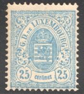 Armoiries Dentelé   25 Cent. Bleu    No 45  * Neuf Avec Gomme - 1882 Allégorie
