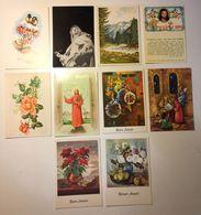 Fiore Flower - Auguri - Gesù - Natale - Artistica - Lotto 10 Cartoline - Cartoline