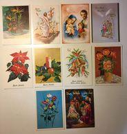 Fiore Flower - Auguri - Gesù - Natale - Pasqua - Artistica - Lotto 10 Cartoline - Cartoline