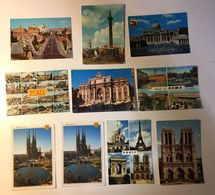 Roma Rome - Barcelona - Paris Parigi - Lotto 10 Cartoline - Cartoline