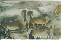 SOUTH AFRICA(chip) - Prehistoric Bushman Wall Paintings(puzzle 1/4), Telkom Telecard, CN:TNAA(0 Barred) Chip Sie30, Used - Zuid-Afrika