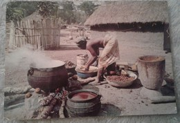 Africa - Costa D Avorio - Republique De Cote D Ivoire - Scène De Village A Biankouma 1990 - Costa D'Avorio