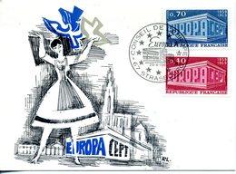 EUROPA CEPT FRANCE 1969 CARTE MAXIMUM N° YVERT 1598/1599 - Europa-CEPT