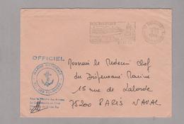 LSC 1984 - Cachet Et Flamme ROCHEFORT - Marine Nationale Ecole Des Fourriers - Marcophilie (Lettres)