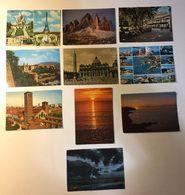 Dolomiti - Paris Parigi Paesaggistiche Italia - Napoli - Roma Etc - Lotto 10 Cartoline - (Lotto N° 57) - Cartoline
