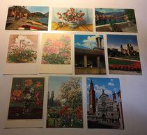 Fiore Flower - Paesaggistiche Italia - Arte Pittura  - Lotto 10 Cartoline - Cartoline