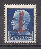 R.S.I. 1944  SERIE IMPERIALE SOPRASTAMPATO G.N.R. SASS. 495 MNH  XF - 4. 1944-45 Repubblica Sociale