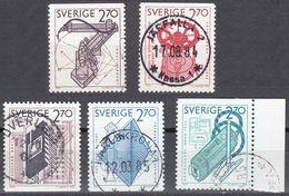 SVERIGE - SVEZIA - SWEDEN - 1984 - Lotto 5 Valori Obliterati: Yvert 1264, 1265, 1266, 1268 E 1269. - Gebraucht