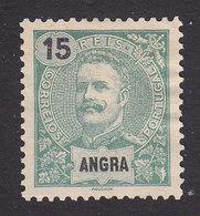 Angra, Scott #18, Mint No Gum, King Carlos, Issued 1897 - Angra