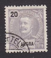 Angra, Scott #19, Used, King Carlos, Issued 1897 - Angra