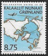 Greenland SG445 2004 First Denmark-Greenland Flight 8k.75 Unmounted Mint - Greenland