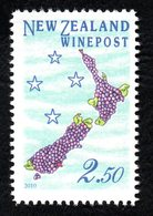 New Zealand Wine Post Map/grapes - New Zealand